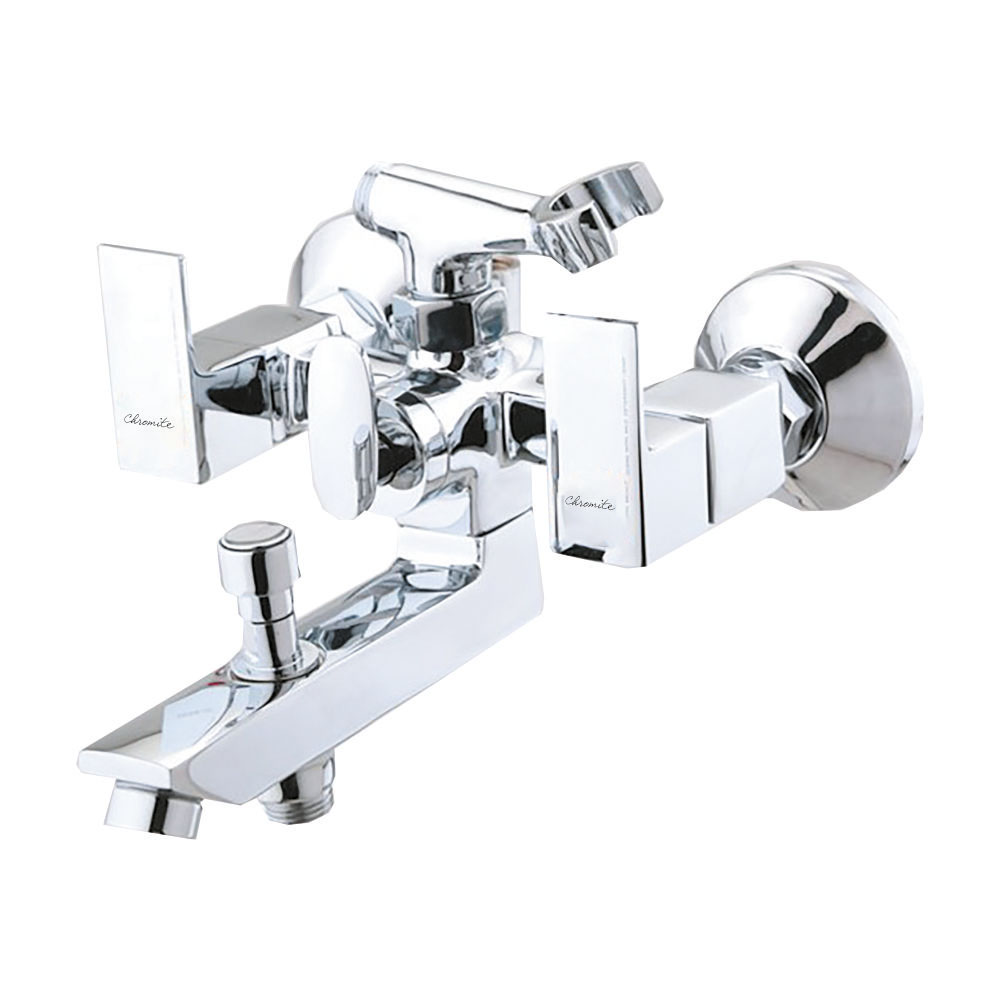 CU-121 WALL MIXER + BUTTON SPOUT WITH CRUTCH