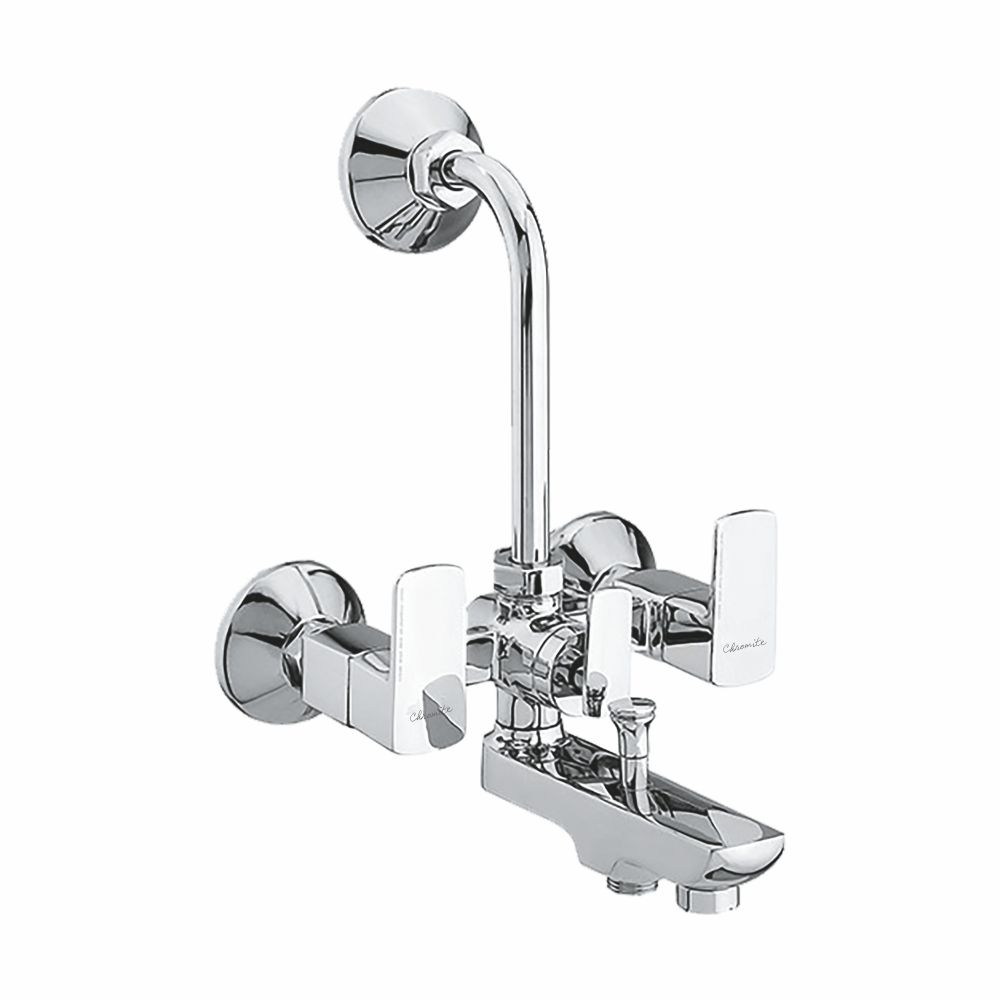 CU-122 WALL MIXER BUTTON SPOUT WITH BEND