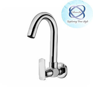 Lv-107 SINK COCK WITH REGULAR SWINGING SPOUT WITH WALL FLANGE