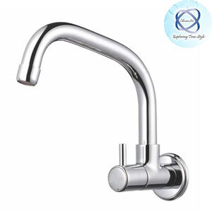 MF-108 SINK COCK WITH SWINGING EXTENDED SPOUT WITH WALL FLANGE