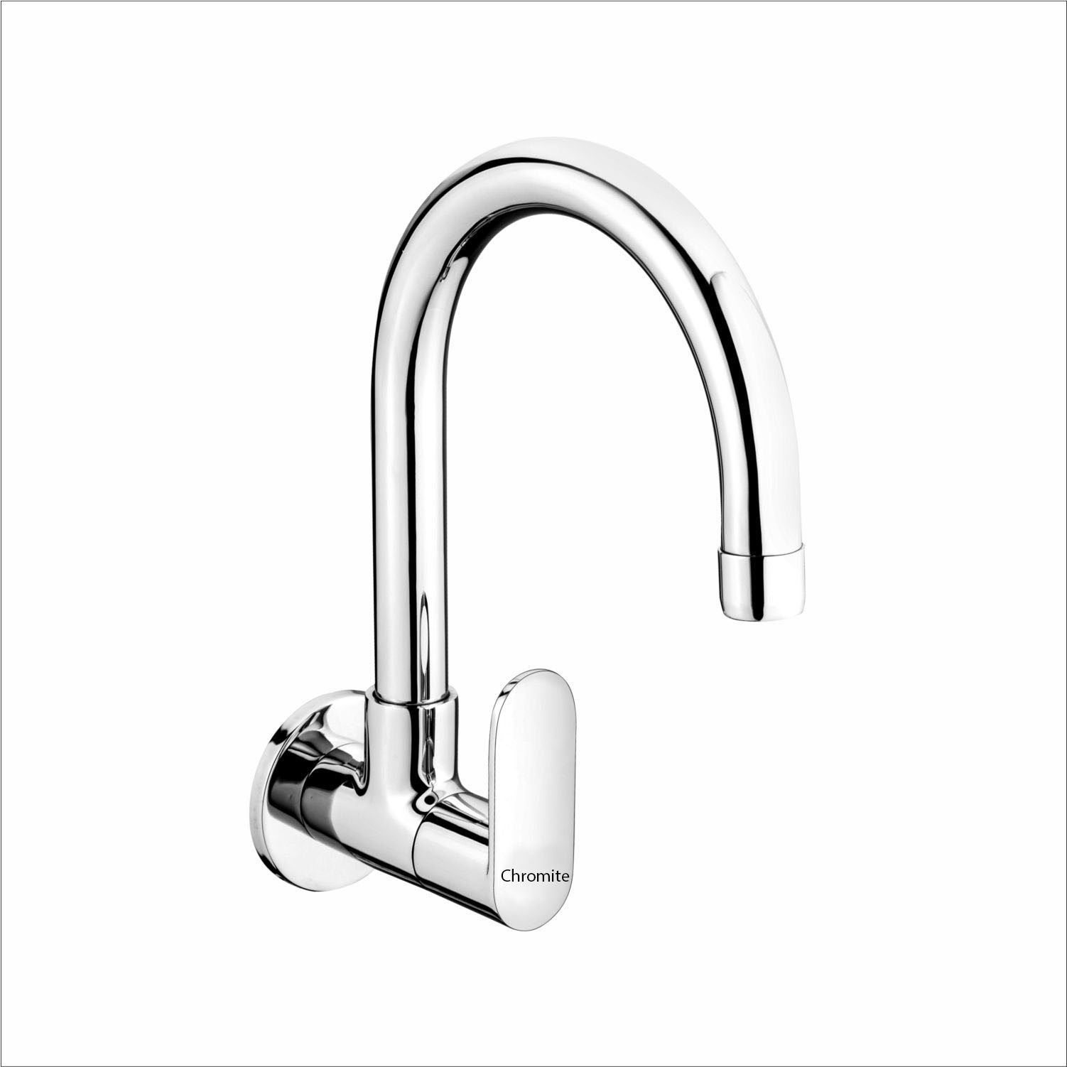 OPL-109 Sink Cock With Regular Swinging Spout (Wall Mounted)