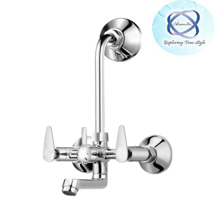 PA-111 WALL-MIXER-WITH-BEND-FOR-ARRANGEMENT-OF-OVERHEAD-SHOWER