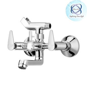 PA-112 WALL-MIXER-WITH-CRUTCH-FOR-ARRANGEMENT-OF-TELEPHONIC-SHOWER