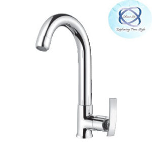 RE-108 SINK COCK WITH REG. SWINGING SPOUT