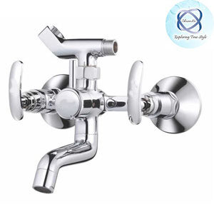 SI-117 WALL MIXER WITH CRUTCH FOR ARRANGEMENT OF TELEPHONIC SHOWER