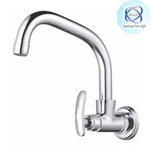 Si-108 SINK COCK WITH SWINGING EXTENDED SPOUT WITH WALL FLANGE