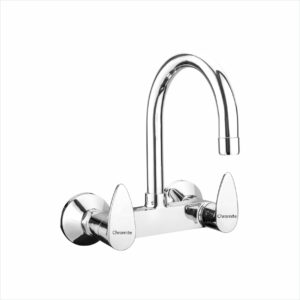 VG-414 Sink Mixer With Regular Swinging Spout (Wall Mounted)