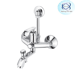 ZA-128 SINGLE LEVER WALL MIXER WITH PROVISION FOR OVERHEAD SHOWER & TELEPHONIC SHOWER
